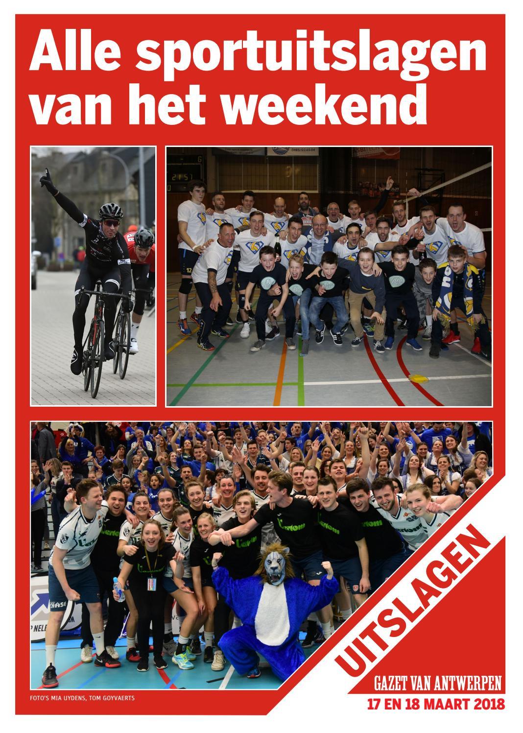 b4645583222 Sportuitslagen 2018-03-18 by gazetvanantwerpen - issuu