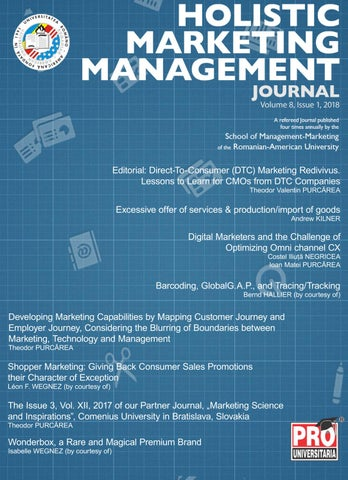Holistic marketing management volume 8 issue 1 year 2018 by page 1 fandeluxe Gallery