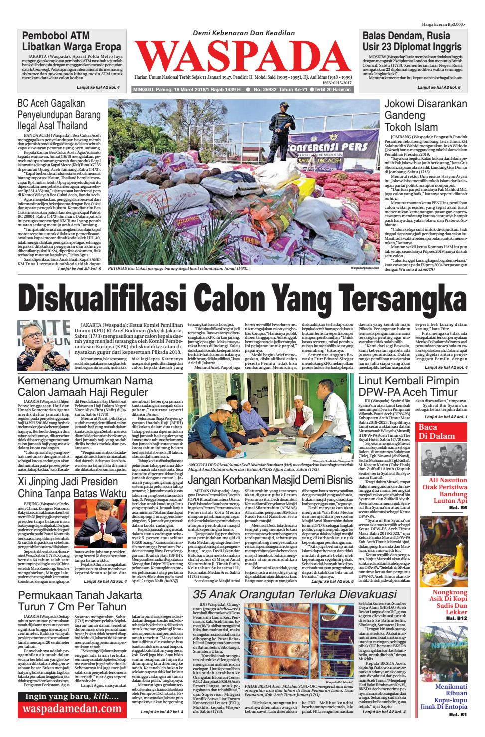 Waspada Minggu 18 Maret 2018 By Harian Issuu Produk Ukm Bumn Kain Batik Middle Premium Sutera
