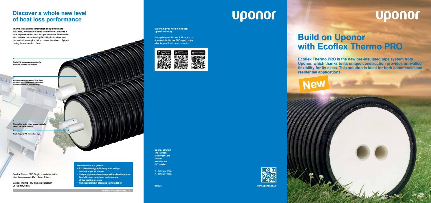 Upono 691 ecoflex thermo pro brochure 210x297 cs4 by Uponor UK - issuu