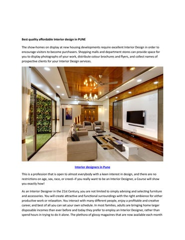 Best Quality Affordable Interior Design In Pune By Richa Das