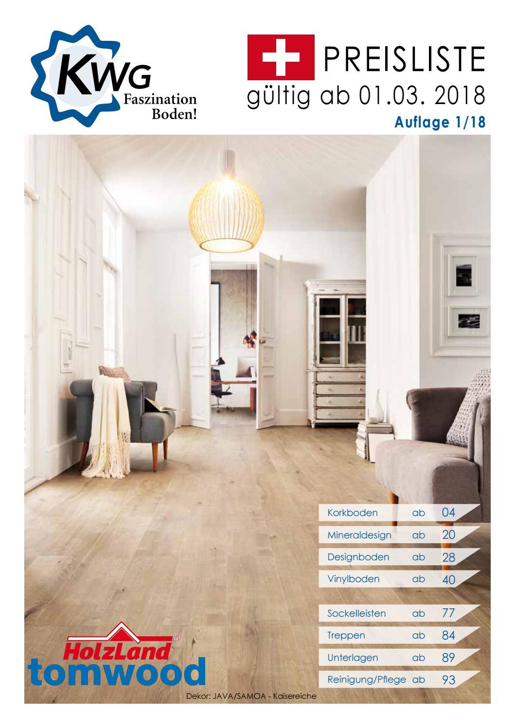 kwg bodenbel ge preisliste vinyl kork designboden by. Black Bedroom Furniture Sets. Home Design Ideas