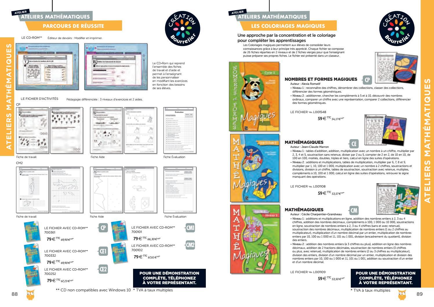 Coloriage Magique Encadrer Des Fractions.Catalogue Bourrelier Education 6 11 Ans 2018 By Bourrelier Education