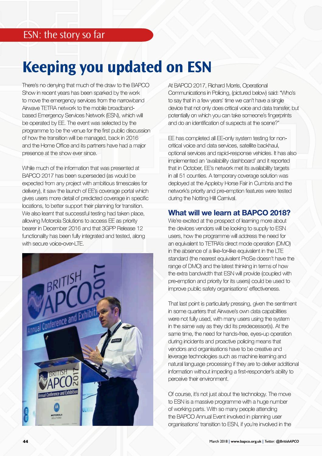 BAPCO Journal - March 2018 by Echo Events - issuu