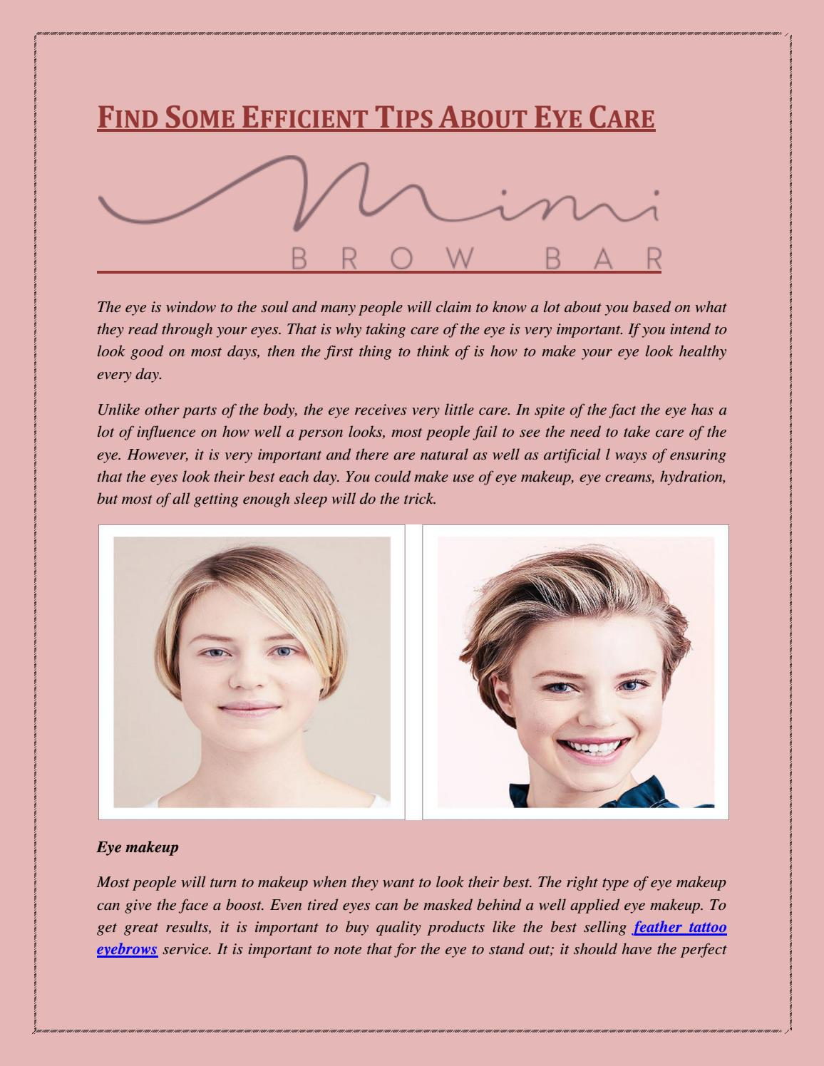 Find Some Efficient Tips About Eye Care By Mimi Brow Bar Issuu