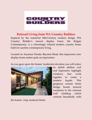 Modern Country Homes by wacountrybuilders - issuu