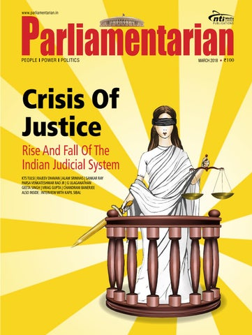 Parliamentarian | Crisis Of Justice by desy jain - issuu