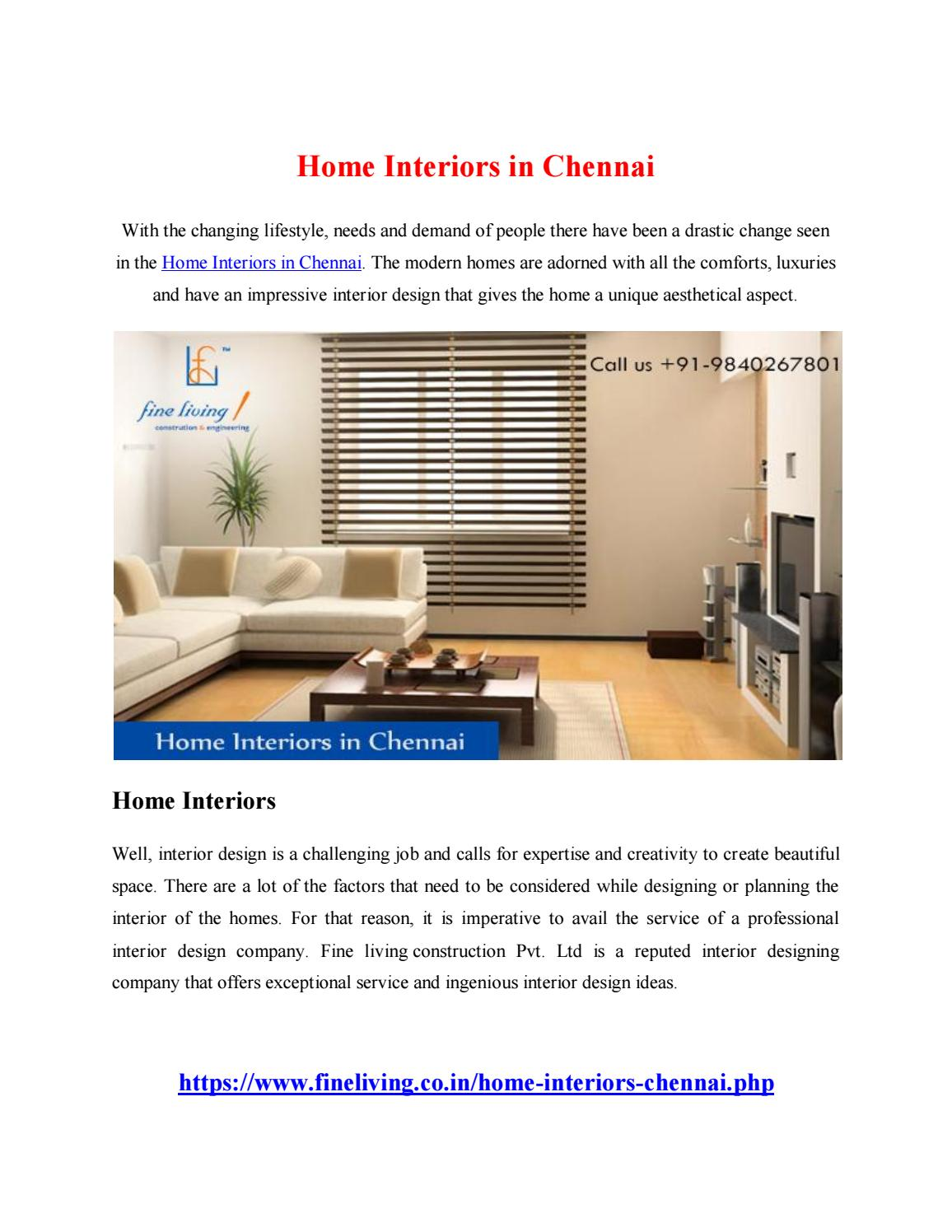 Home Interiors In Chennai By Yandex686   Issuu
