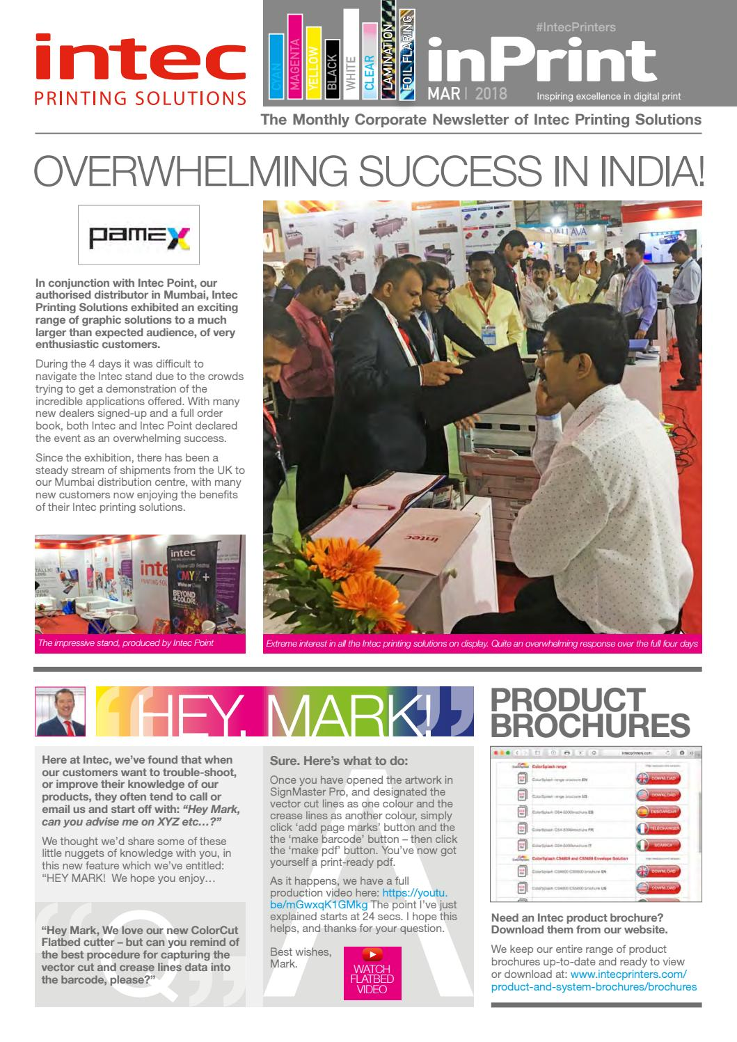 March 2018 newsletter by Intec Printing Solutions - issuu