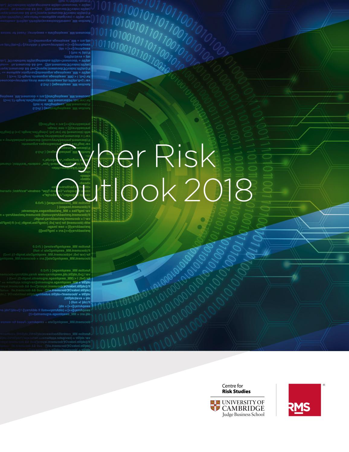 Cyber Risk Outlook 2018 by Cambridge Judge Business School