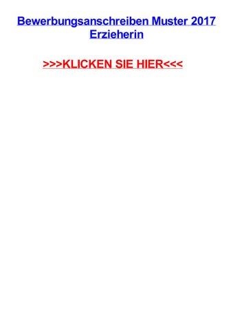 Bewerbungsanschreiben muster 2017 erzieherin by brianzlidw - issuu