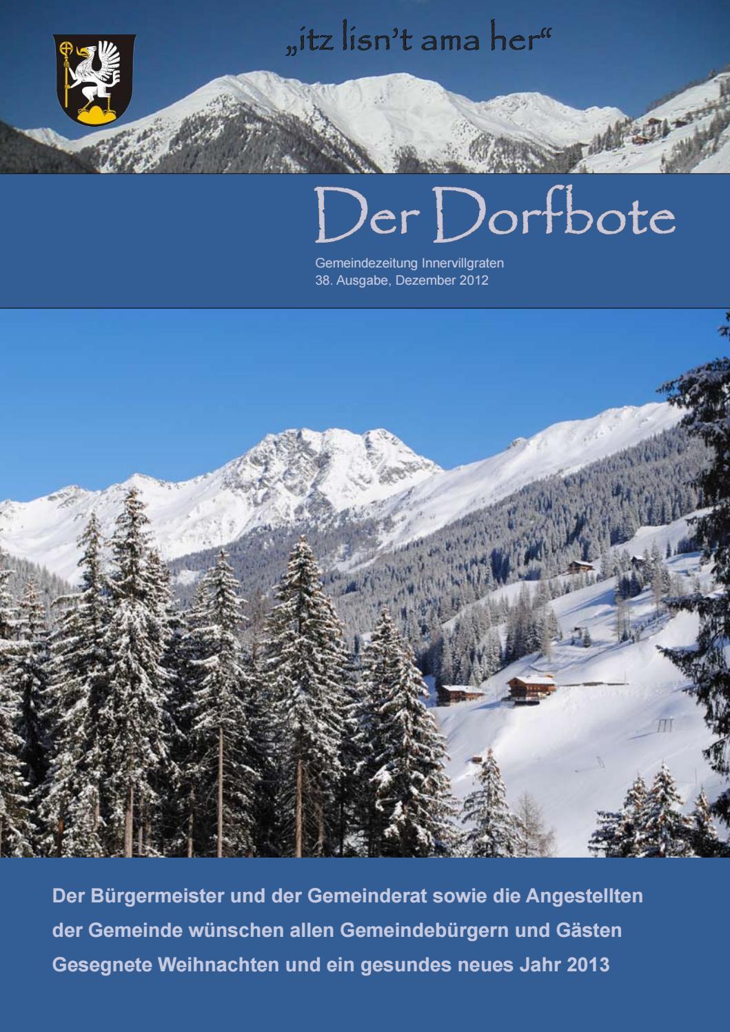 Frohe Weihnachten Und Alles Gute F303274r Das Neue Jahr.Dorfbote Dezember 2012 By Innervillgraten Issuu