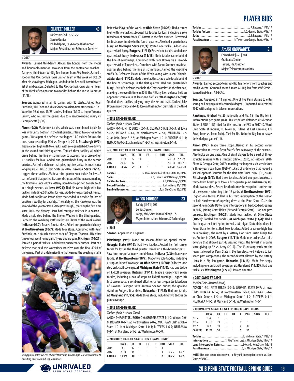 2018 Penn State Football Spring Guide by Penn State