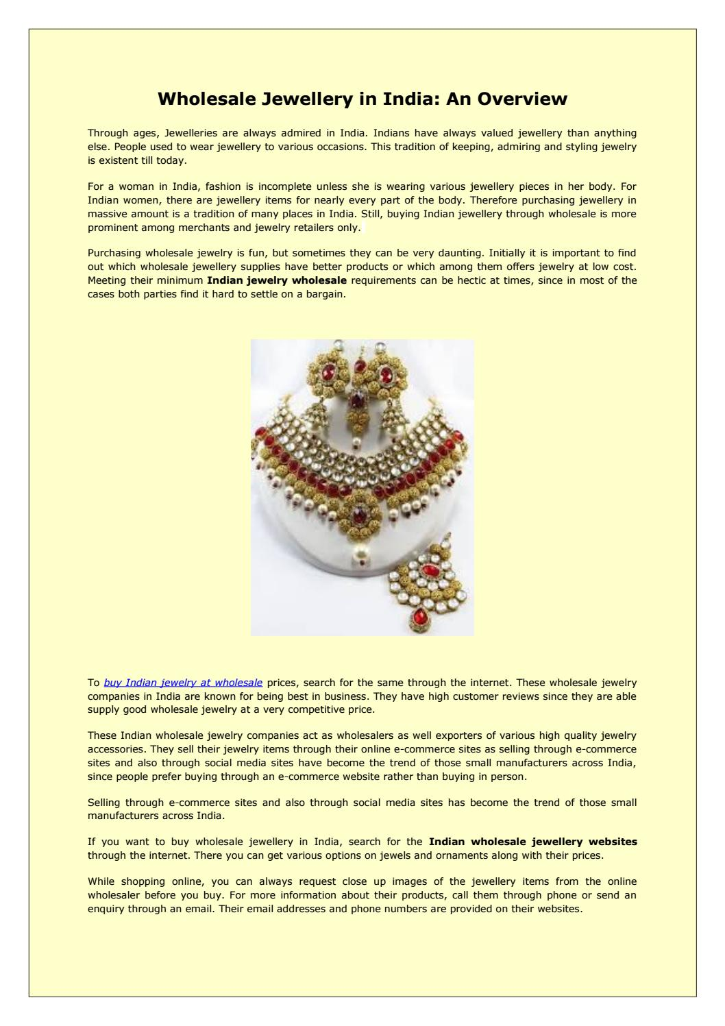 Wholesale Jewellery in India: An Overview! by Rajib Dam - issuu