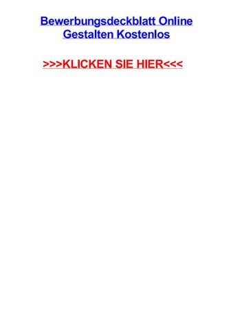Bewerbungsdeckblatt Online Gestalten Kostenlos By Daviddpagl Issuu