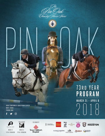 8902686e121e Pin Oak 73rd Year Program by Pin Oak Charity Horse Show - issuu
