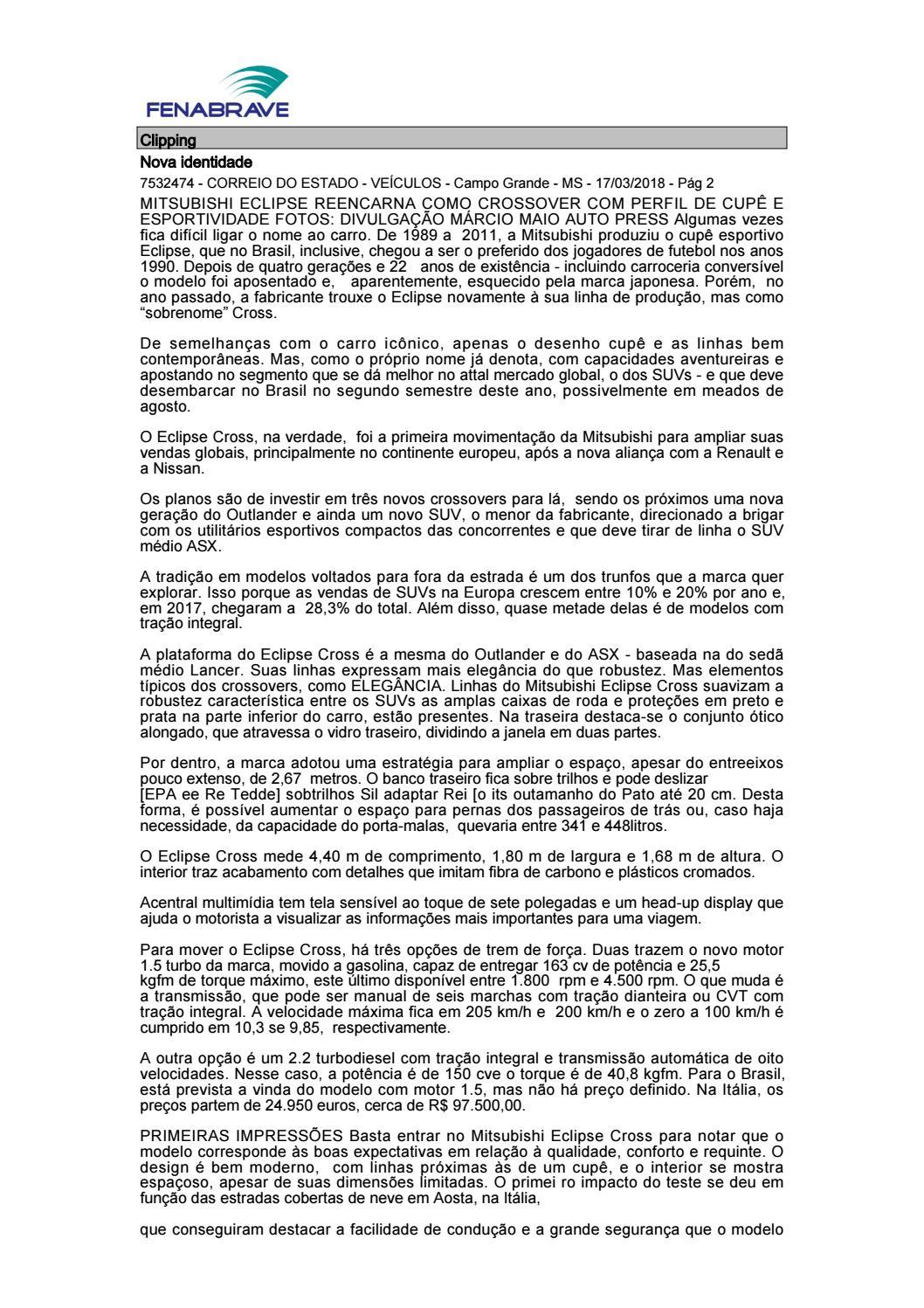 6bc2db8a94ad2 Clipping Fenabrave 19 03 2018 by MCE Comunicação - issuu