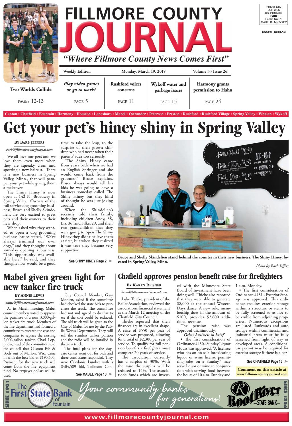 Fillmore County Journal - 3 19 18 by Jason Sethre - issuu