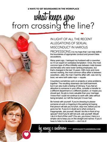 Page 14 of What Keeps you from Crossing the Line  (in the workplace)