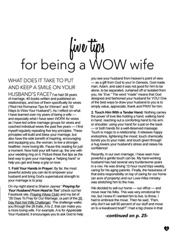 Page 21 of Pam Farrell—Five tips for being a WOW Wife