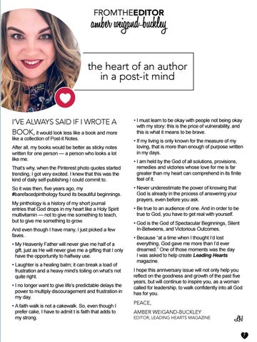 Page 7 of From the Editor: Amber Weigand-Buckley— Heart of an Author in a Post-It Mind