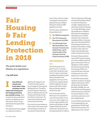Page 10 of Fair Housing & Fair Lending Protection in 2018
