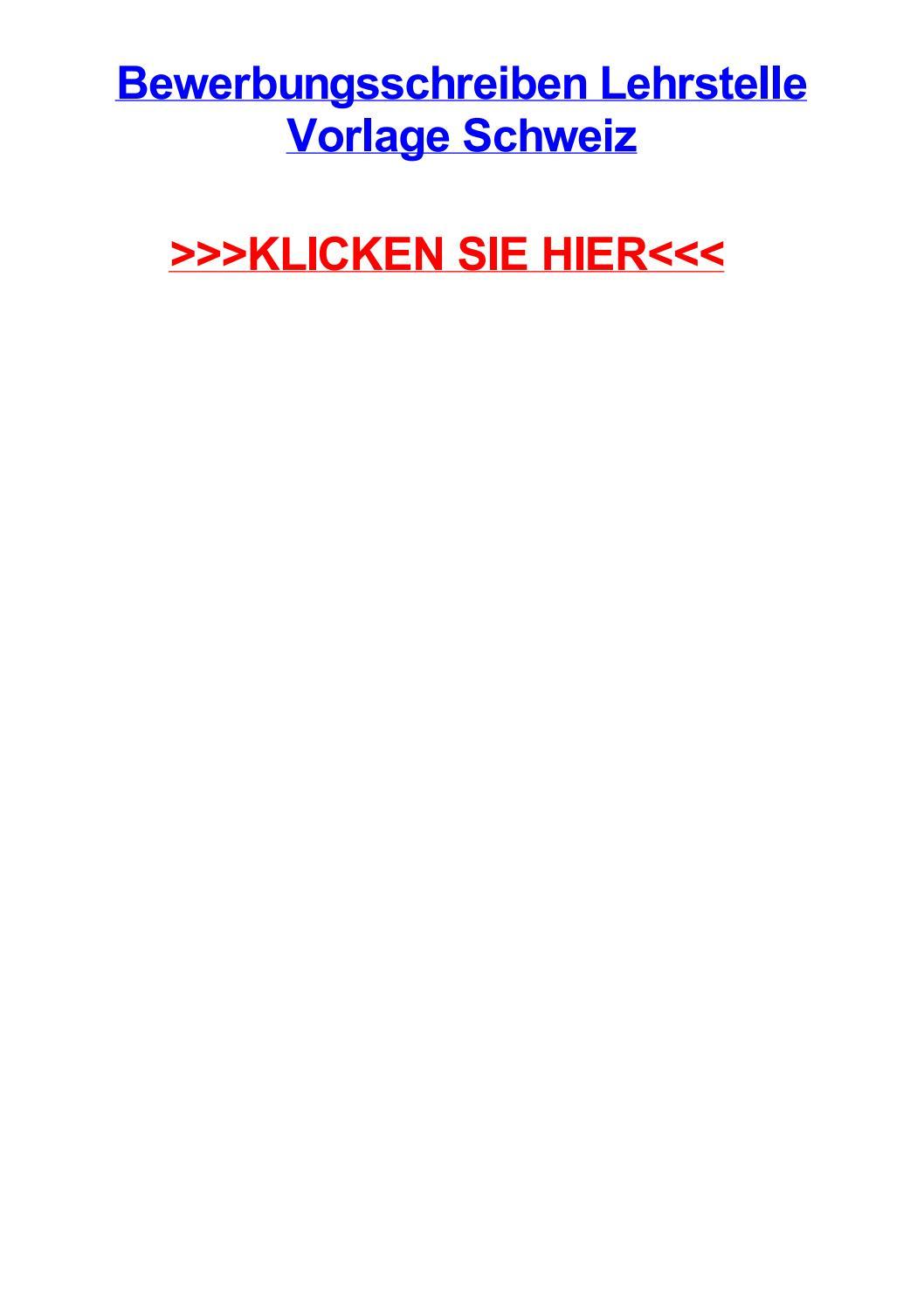 Bewerbungsschreiben Lehrstelle Vorlage Schweiz By Jamescfuu