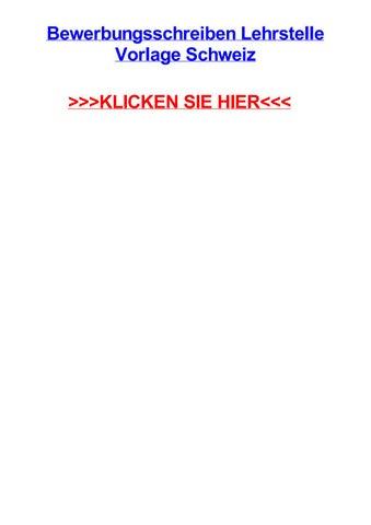 Bewerbungsschreiben Lehrstelle Vorlage Schweiz By Jamescfuu Issuu