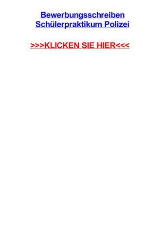 Bewerbungsschreiben Schjlerpraktikum Polizei By Klaceercut Issuu
