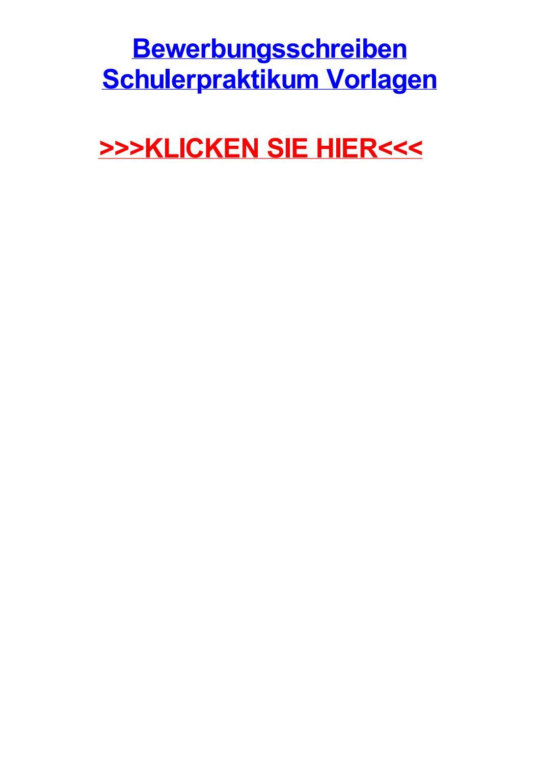 Bewerbungsschreiben schulerpraktikum vorlagen by daledjmsr - issuu