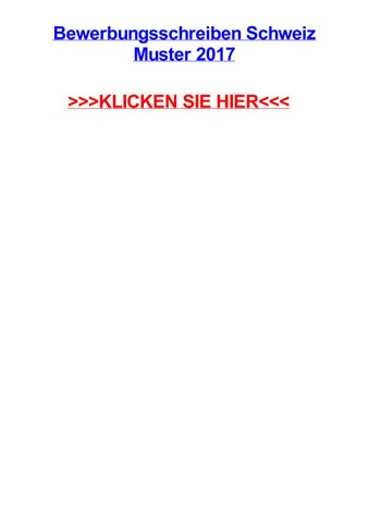 Bewerbungsschreiben Schweiz Muster 2017 By Earltxdtm Issuu
