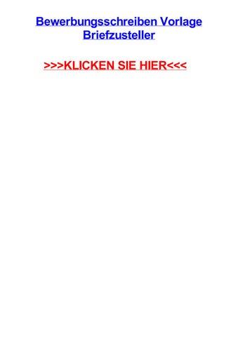 Bewerbungsschreiben vorlage briefzusteller by kimcbtr - issuu