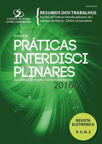 Revista de Práticas Interdisciplinares 2016 2 by Católica de Vitória ... 8bfaccd9e59eb