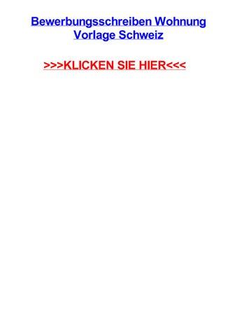 Bewerbungsschreiben Wohnung Vorlage Schweiz By Abelljwxj Issuu