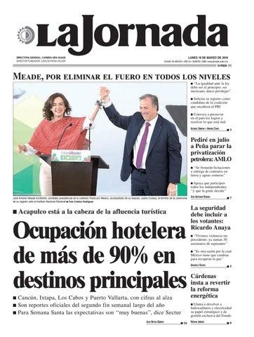35bf1e2ee LUNES 19 DE MARZO DE 2018 CIUDAD DE MÉXICO • AÑO 34 • NÚMERO 12083 •  www.jornada.unam.mx