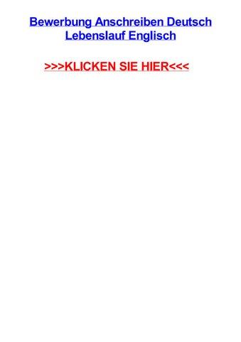 Bewerbung Anschreiben Deutsch Lebenslauf Englisch By Sheriqkddb Issuu