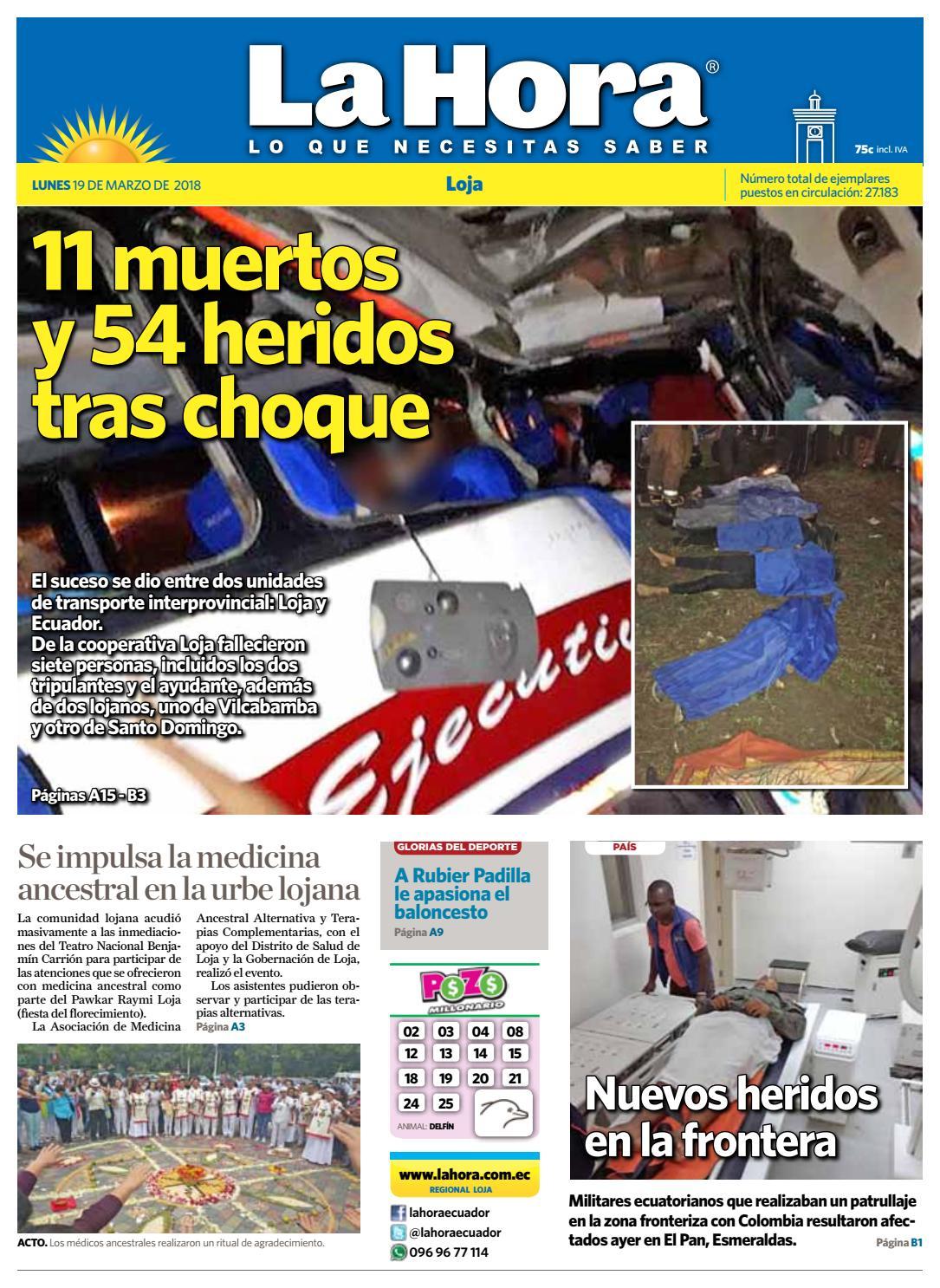 Diario La Hora Loja 19 de Marzo 2018 by Diario La Hora Ecuador - issuu 7637a20fc2