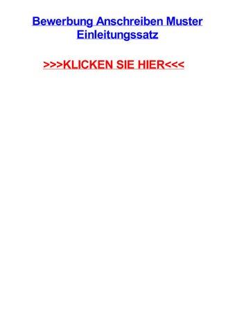 Bewerbung Anschreiben Muster Einleitungssatz By Klaceercut Issuu