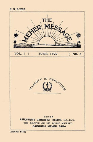 Meher Message Volume One Number Six Alt by AMBCSC ARCHIVES