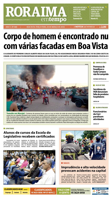 e98e6d16801 Jornal roraima em tempo – edição 888 by RoraimaEmTempo - issuu