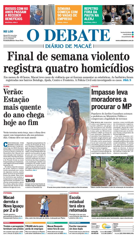 305d0efe1d749 Edição 9517 20 03 2018 by O DEBATE Diario de Macae - issuu