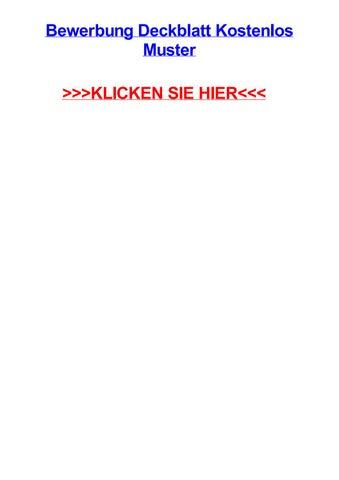 Bewerbung Deckblatt Kostenlos Muster By Kevinkbrqf Issuu