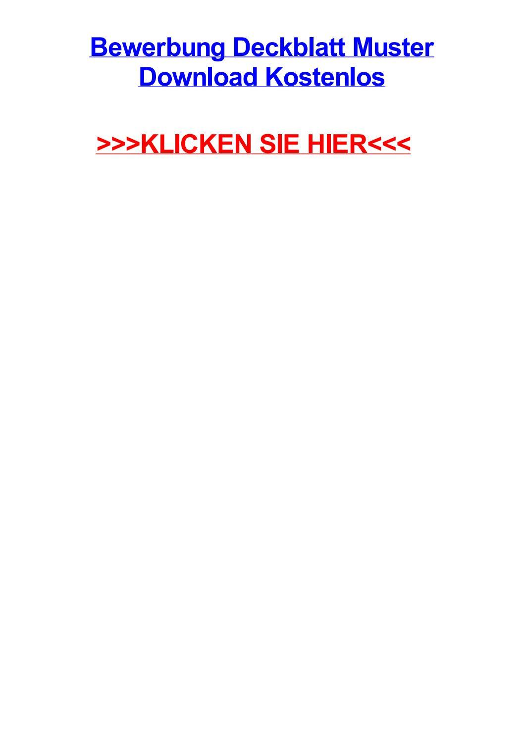 bewerbung deckblatt muster download kostenlos by davidiwge issuu. Black Bedroom Furniture Sets. Home Design Ideas