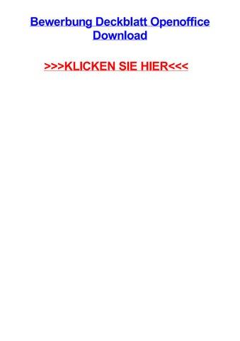 Bewerbung Deckblatt Openoffice Download By Brittanyxsnez Issuu