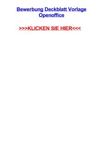 Bewerbung Deckblatt Vorlage Openoffice By Hannahskdhs Issuu