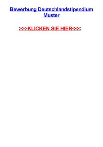 Bewerbung deutschlandstipendium muster by lindaniey - issuu