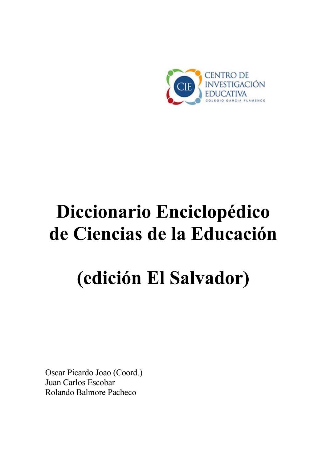 Diccionario enciclopedico de educacion by Roy Guizar - issuu
