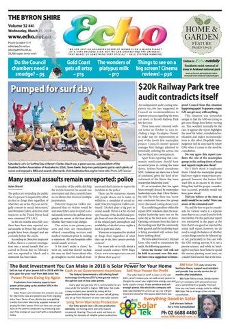 The Byron Shire Echo Issue 3241 March 21 2018 By Echo