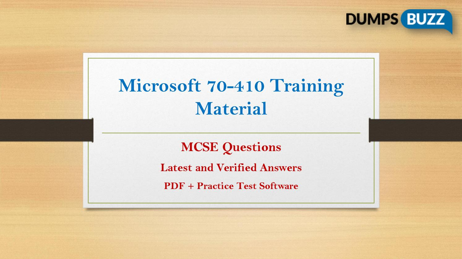70 410 Practice Exam Questions Get Verified 70 410 Answers By