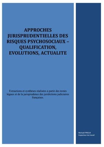 8f4f598b96b Approches jurisprudentielles rps by Souffrance et Travail - issuu